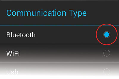 Choose bluetooth