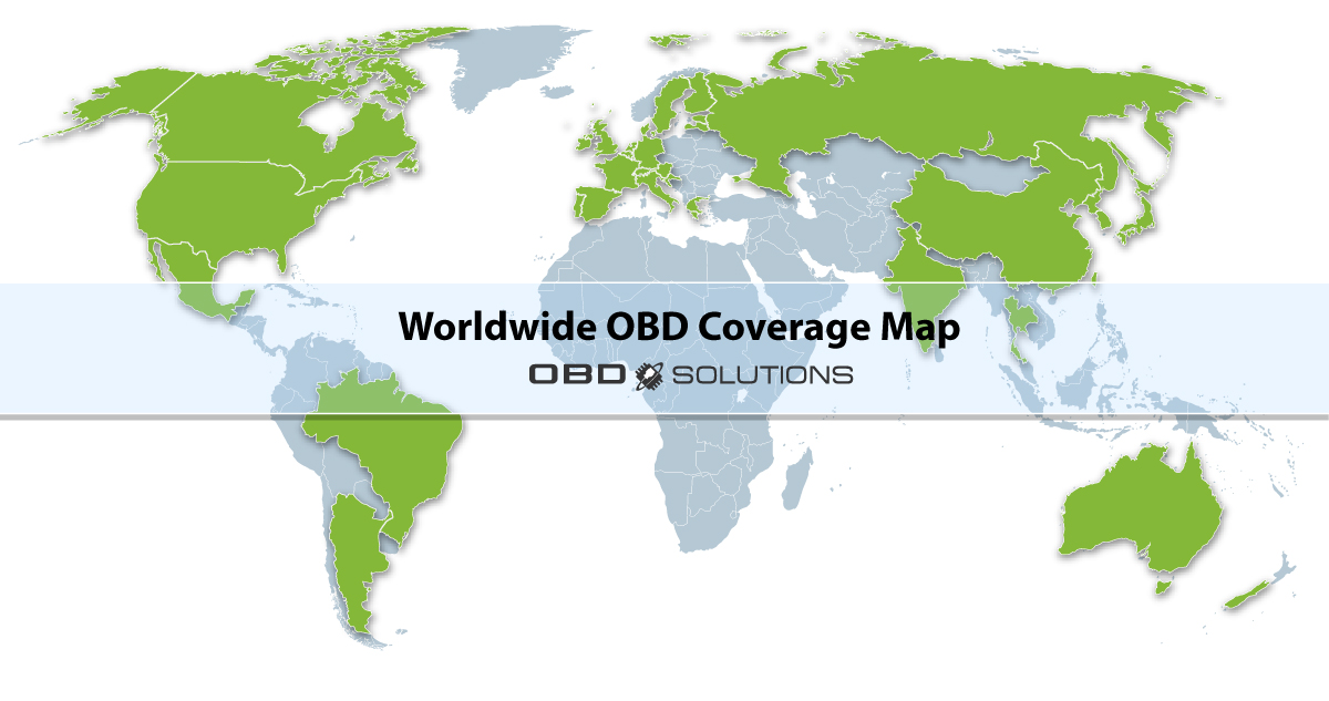 Worldwide OBD Coverage Map