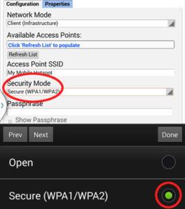 Security mode
