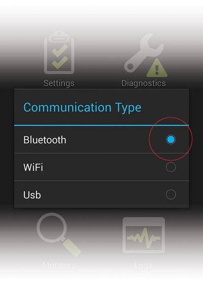 MX+ OBDLink communication type selection