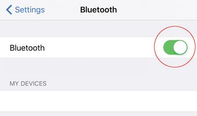 MX+ iOS - BT on